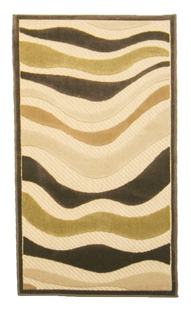 2' x 4' Urbane Swirl Design Outdoor Casual Area Runner
