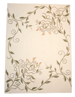 4' x 6' Aubusson Floral Rug-Area Rugs-Rug Shop and More