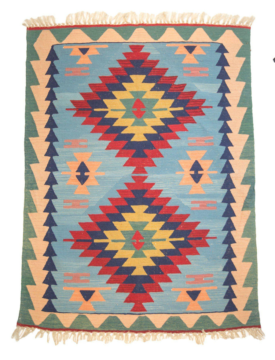 4' x 6' Kilim Southwestern Wool Rug-Area Rugs-Rug Shop and More