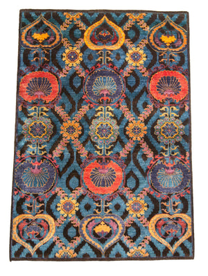 4' x 6' Modern Multicolor Wool Rug-Area Rugs-Rug Shop and More