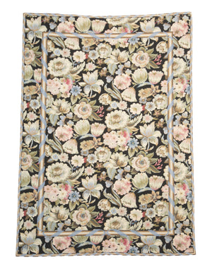 4' x 6' Needlepoint Traditional Floral Rugs-Area Rugs-Rug Shop and More