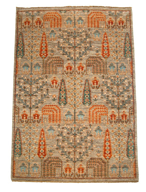 4' x 6' Persian Handmade Wool Rug-Area Rugs-Rug Shop and More