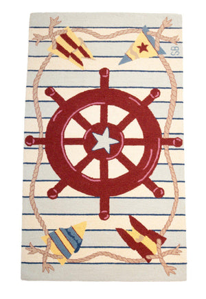 4' x 6' Sailor Nautical Rug-Area Rugs-Rug Shop and More