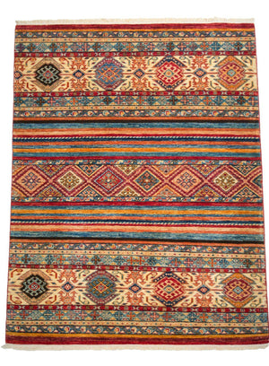 4' x 6' Southwestern Jewel Tone Wool Rug-Area Rugs-Rug Shop and More