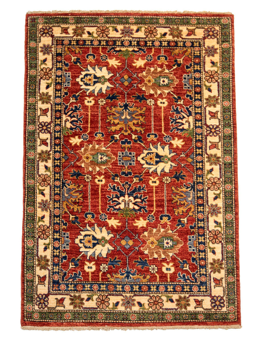 4' x 6' Traditional Handmade Oriental Rug-Area Rugs-Rug Shop and More