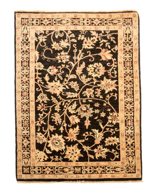 4' x 6' Traditional Oriental Floral Wool Rug-Area Rugs-Rug Shop and More