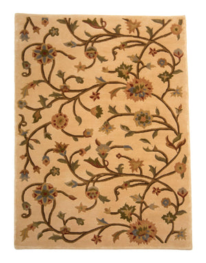 4' x 6' Transitional Floral Wool Rug-Area Rugs-Rug Shop and More