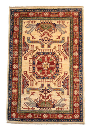 4' x 6' Transitional Oriental Wool Rug-Area Rugs-Rug Shop and More