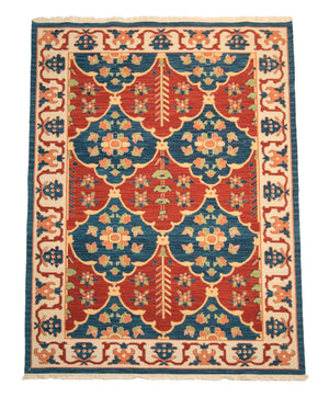 4' x 6' Tribal Flat Weave Wool Rug-Area Rugs-Rug Shop and More