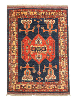 4' x 6' Tribal Handmade Oriental Rug-Area Rugs-Rug Shop and More
