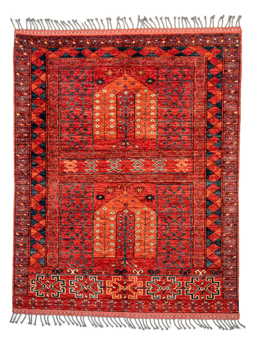 4' x 6' Tribal Handmade Wool Rug-Area Rugs-Rug Shop and More