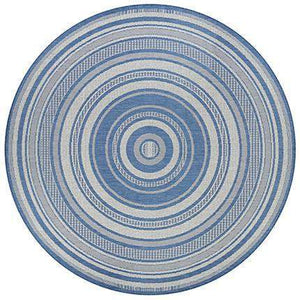 Recife Gazebo Stripe Blue Outdoor Rugs-Rug Shop and More