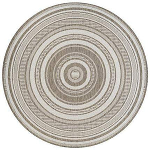 Recife Gazebo Striped Taupe Outdoor Rugs-Rug Shop and More