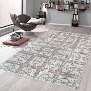 8' x 10' Modern Hand Knotted Silk & Wool Rug-Area Rugs-Rug Shop and More