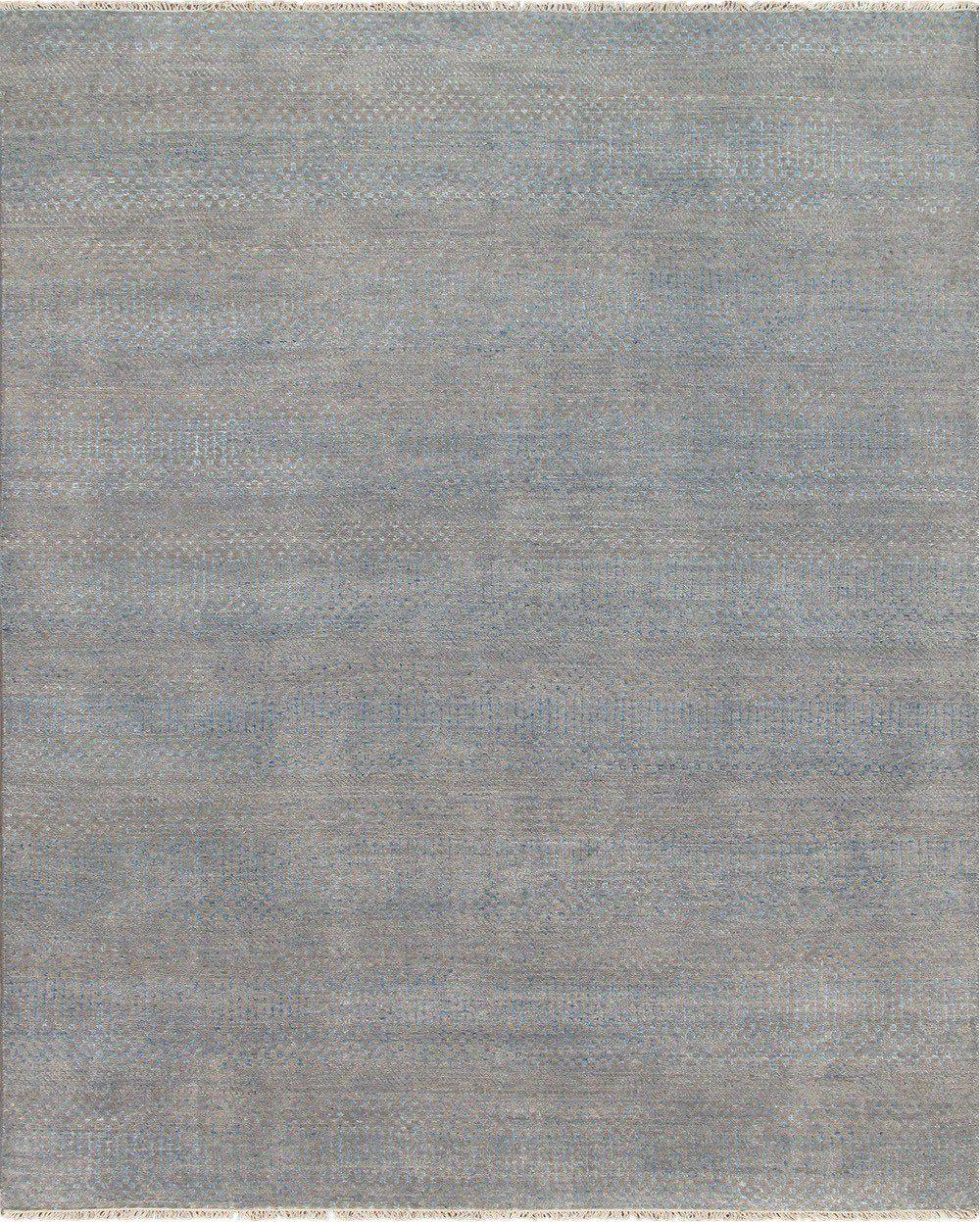 8' X 10' Contemporary Rug Blue and Taupe-Area Rugs-Rug Shop and More