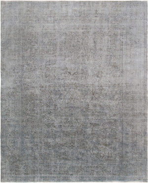 "9' 7"" X 11'11"" Overdyed Grey Wool Area Rug-Area Rugs-Rug Shop and More"