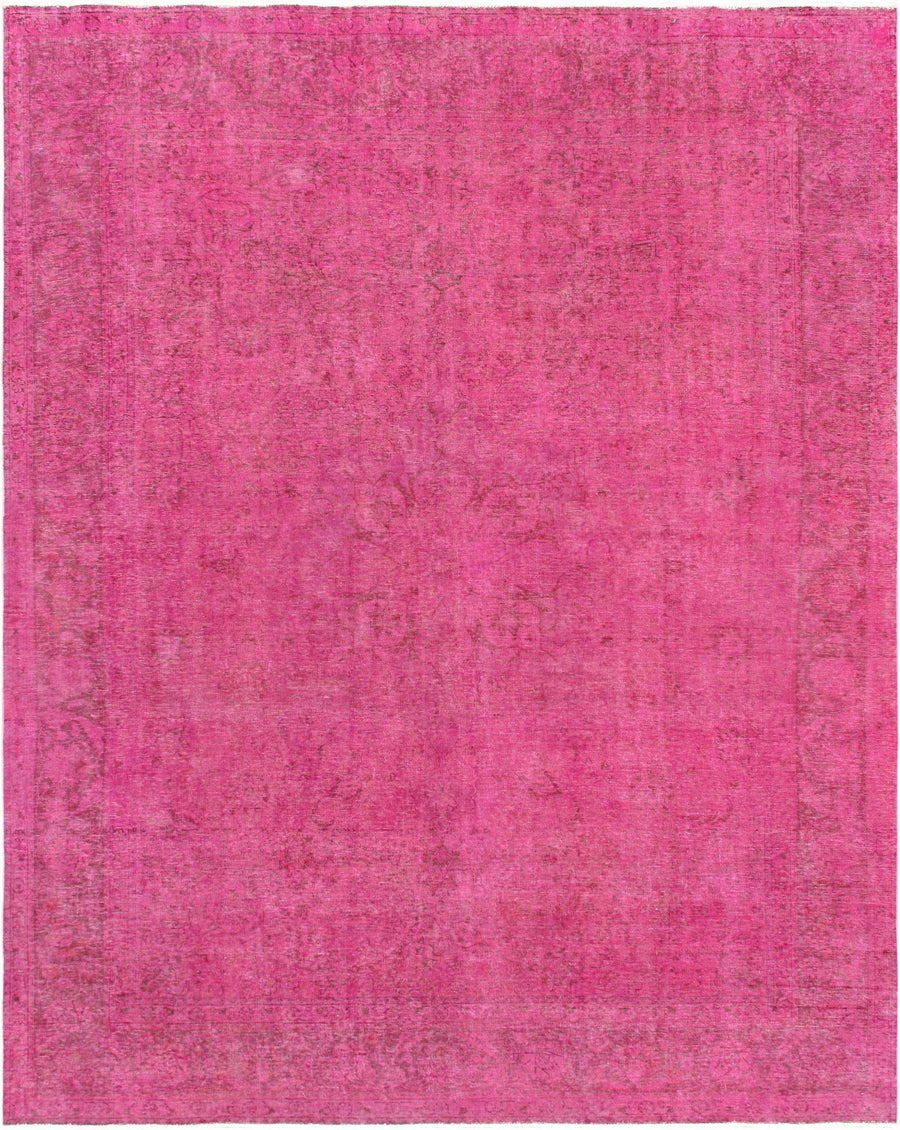 9' X 12' Vintage Magenta Wool Rug Area Rugs - Rug Shop and More