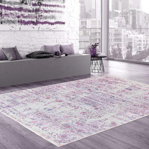 9' X 12' Transitional Floral Wool and Bamboo Silk Rug-Area Rugs-Rug Shop and More