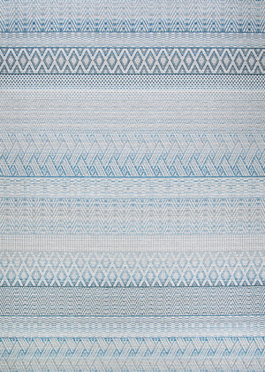 Cape Gables Blue Outdoor Patio Rug