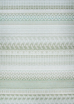Cape Gables Green Outdoor Patio Rug
