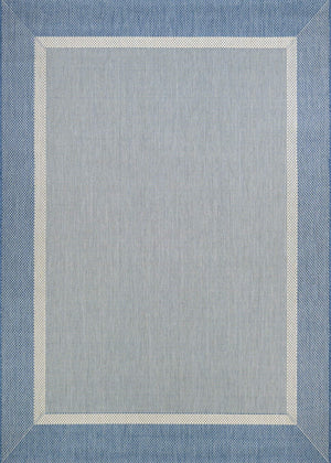 Recife Stria Texture Blue Outdoor Rugs-Rug Shop and More