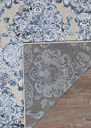 Cire Royal Gate Lace Transitional Floral Area Rug