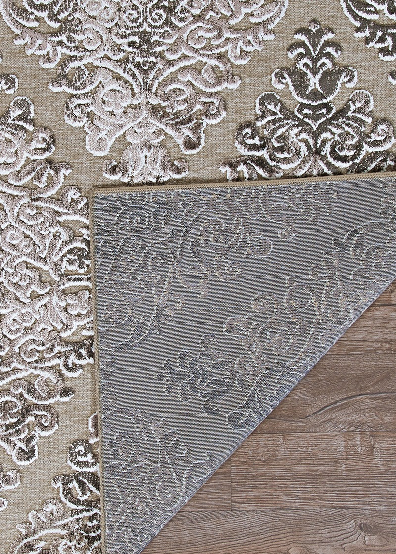 Cire Victoria Mansion Taupe Modern Area Rug