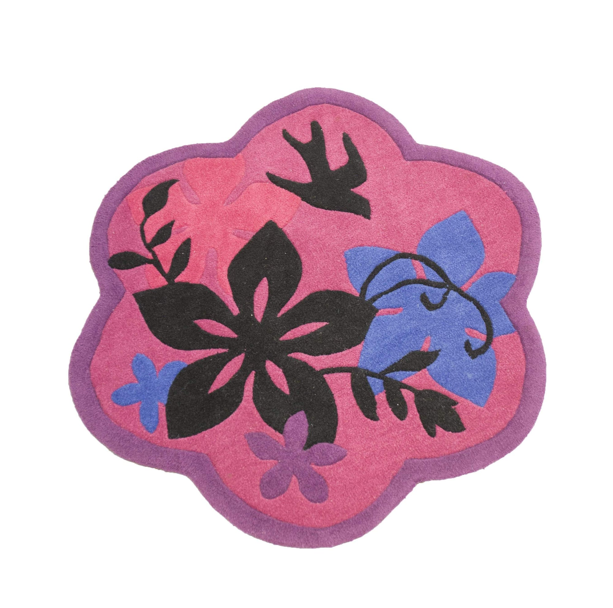 Pink Girls Accent Flower Rug-Rug Shop and More