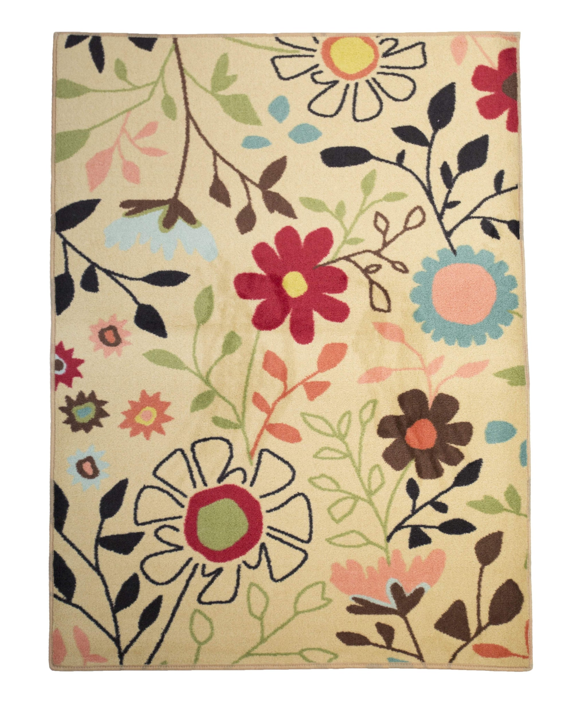 Fun Flower Pedal Girl Room Area Rug-Rug Shop and More