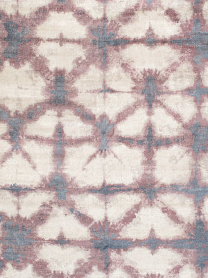 "8' 0"" X 10' 0"" Shibori Hand Loomed Silk & Wool Area Rug"