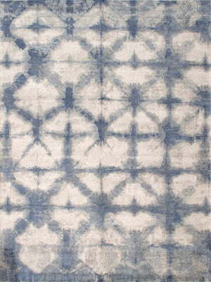 "10' 0"" X 14' 0"" Shibori Hand Loomed Silk & Wool Area Rug"