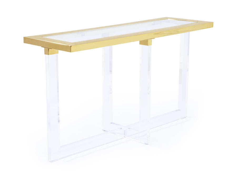 Lucite Modern Console Table