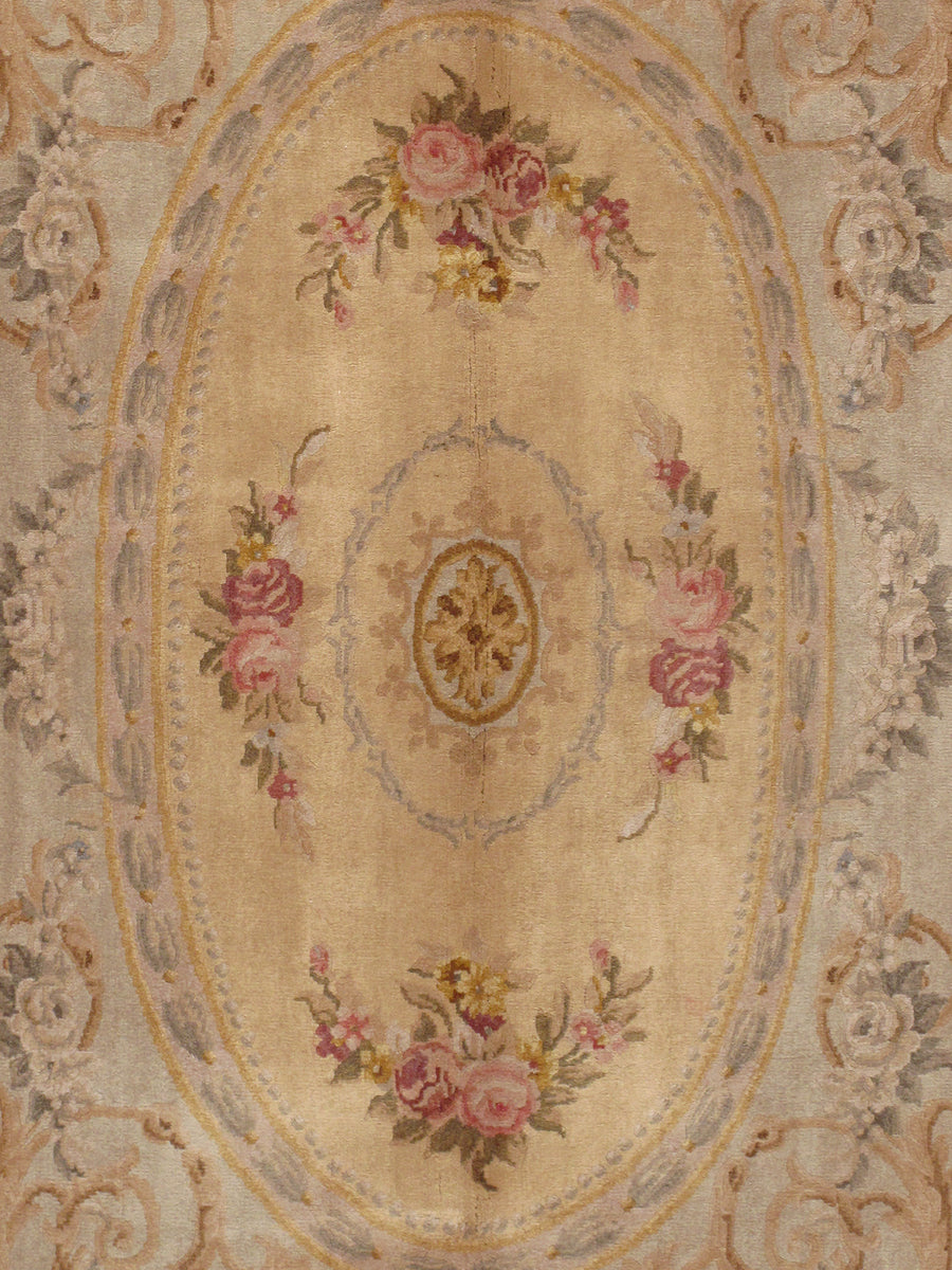 "5'11"" X  9' 0"" Savonnerie Hand Knotted Lamb's Wool Area Rug"