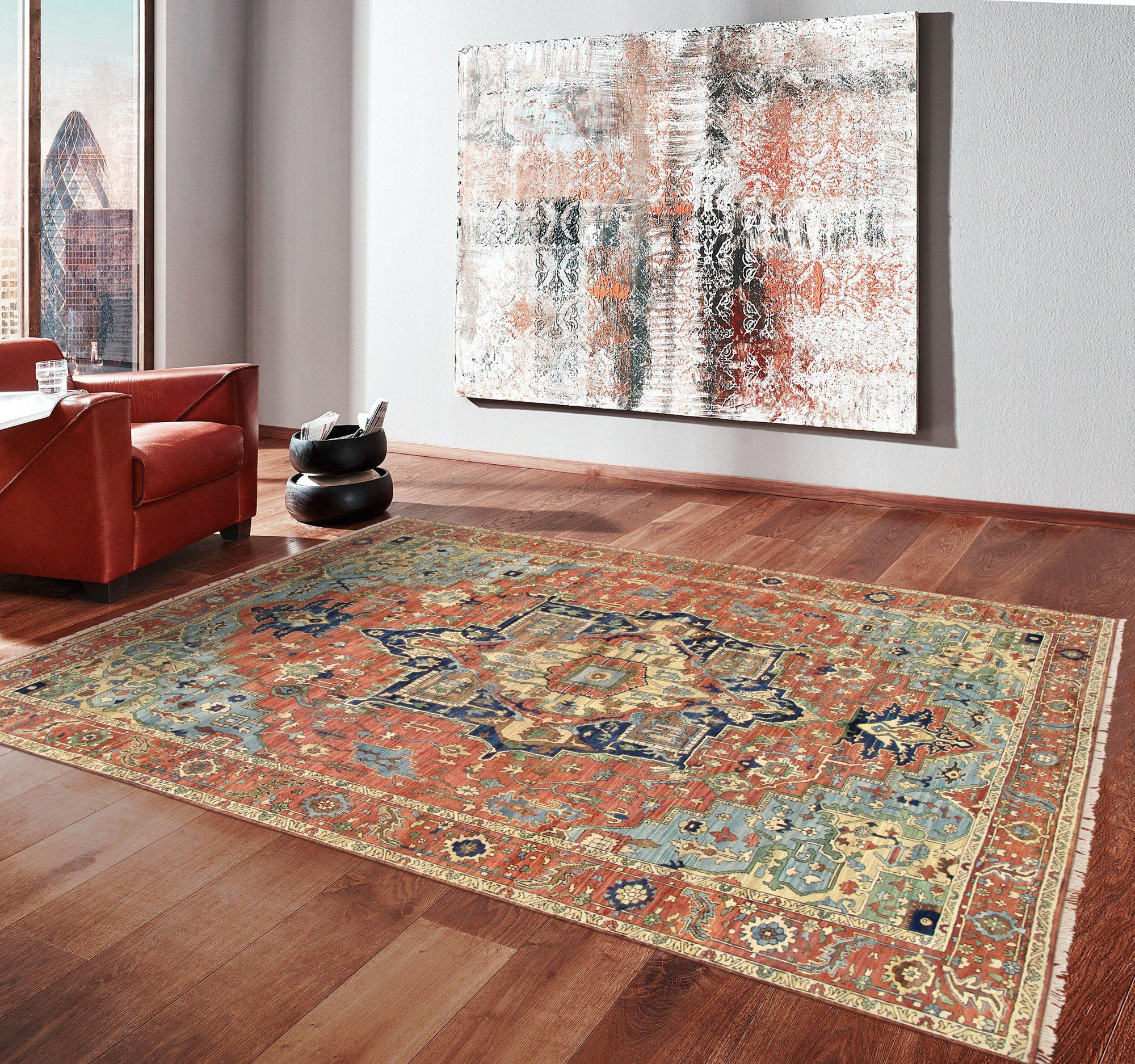 Persian Wool Geometric Serapi Area Rug