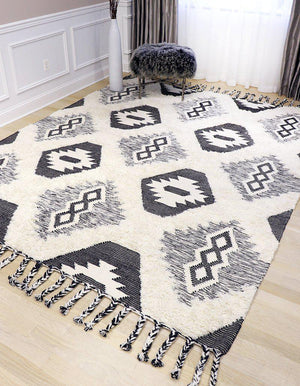 Santa Fe Flat Weave Wool & Cotton Rugs-Area Rugs-Rug Shop and More