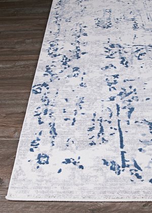 Calinda Kingsbury Modern Blue Rug