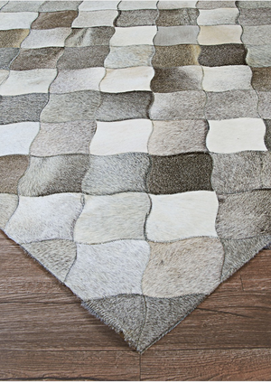 Chalet Diamonds Leather Cowhide Rugs
