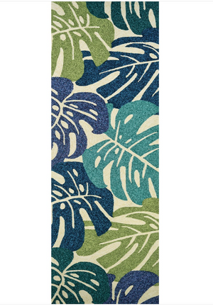 Covington Monstera Palm Leaf Outdoor Runner Rug