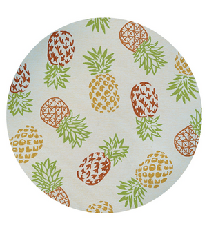 Covington Outdoor Pineapples Round Rug