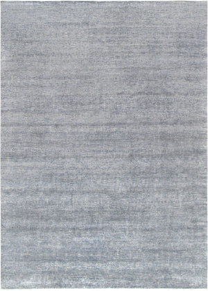 Silk Modern Light Grey Area Rug