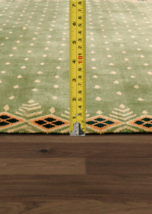 "6' 8"" X 10' 2"" Modern Hand Knotted Wool Area Rug"