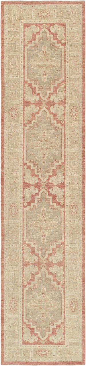"2'11"" X 12' 9"" Turkish Oushak Hand Knotted Wool Runner"