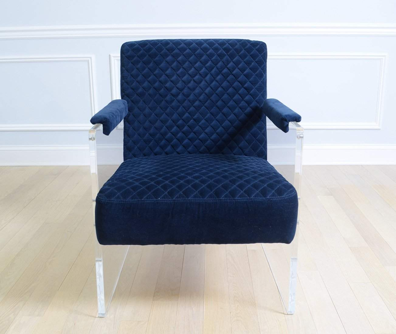 Blue Velvet Clear Armchair-Rug Shop and More