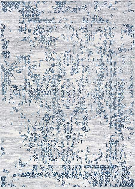 Calinda Samovar Blue Modern Area Rug-Area Rugs-Rug Shop and More