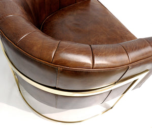 Vicenza Brown Barrel Chair