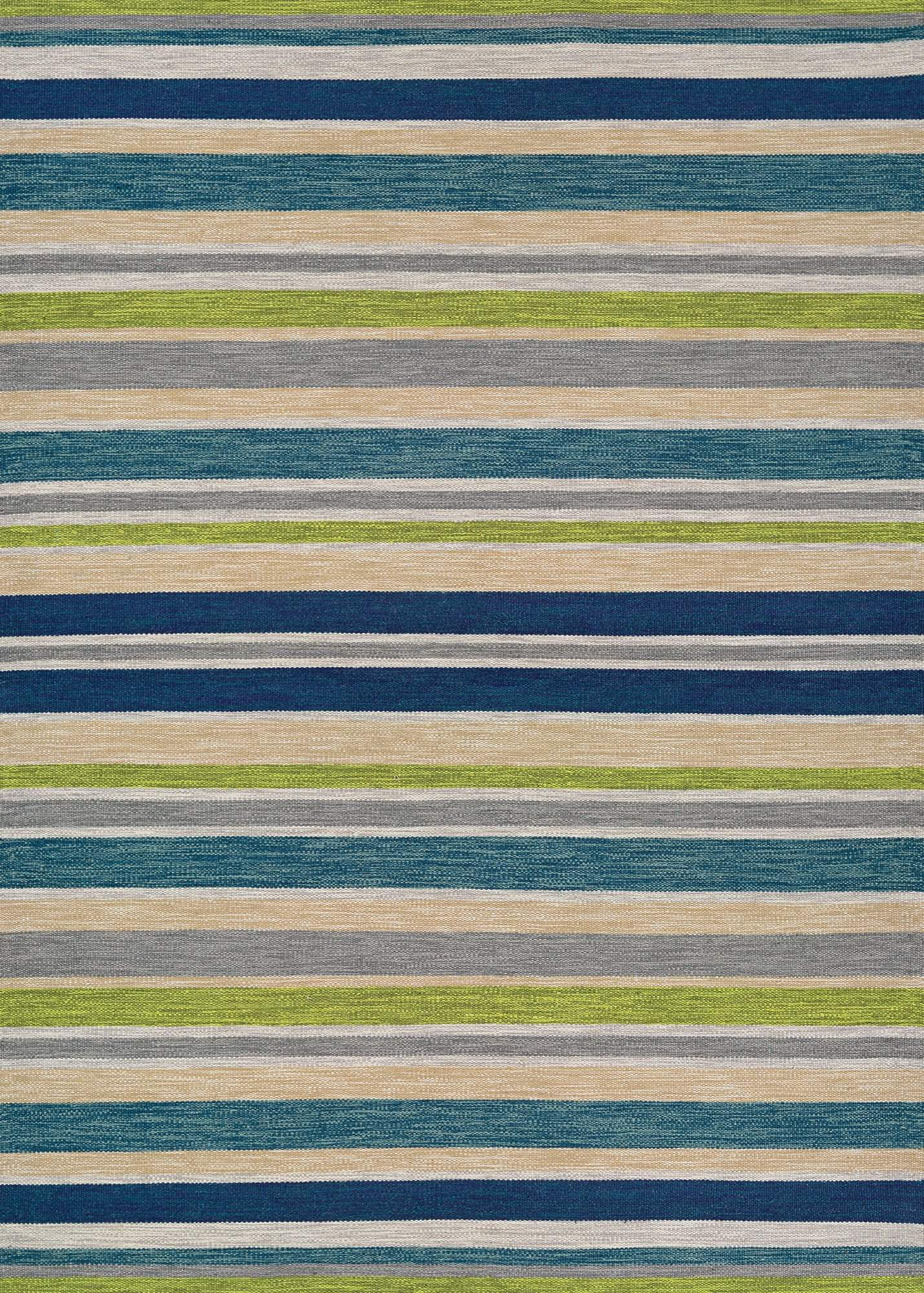 Cottages Alki Striped Outdoor Rugs