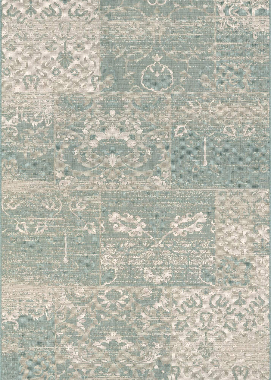 Afuera Country Cottage Green Outdoor Rugs-Rug Shop and More