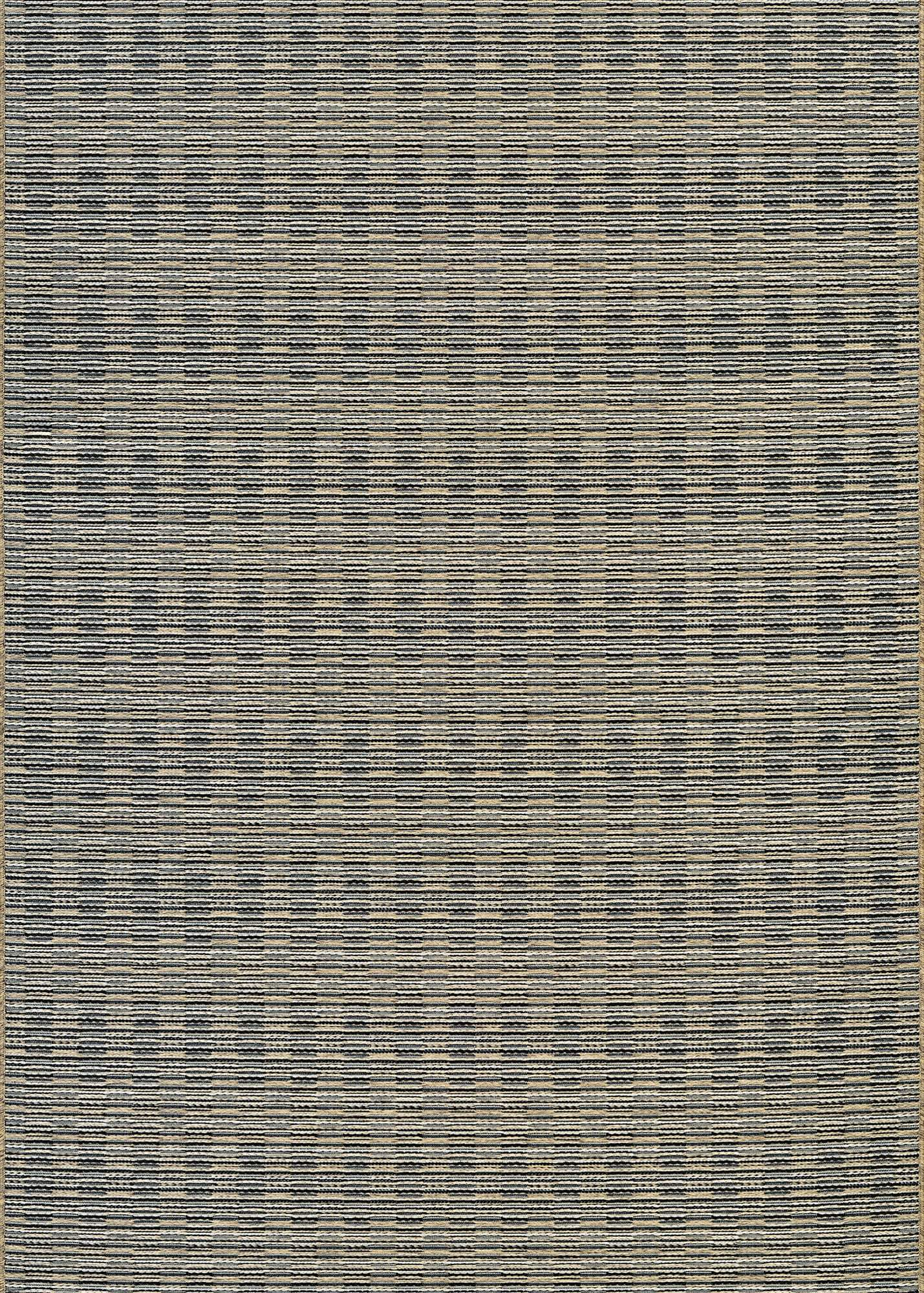 Cape Barnstable Neutral Outdoor Rugs- black gold