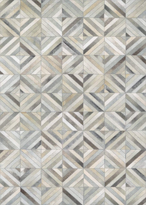 Couristan Chalet Blocks Cowhide Leather Area Rugs-Rug-Shop-and-More