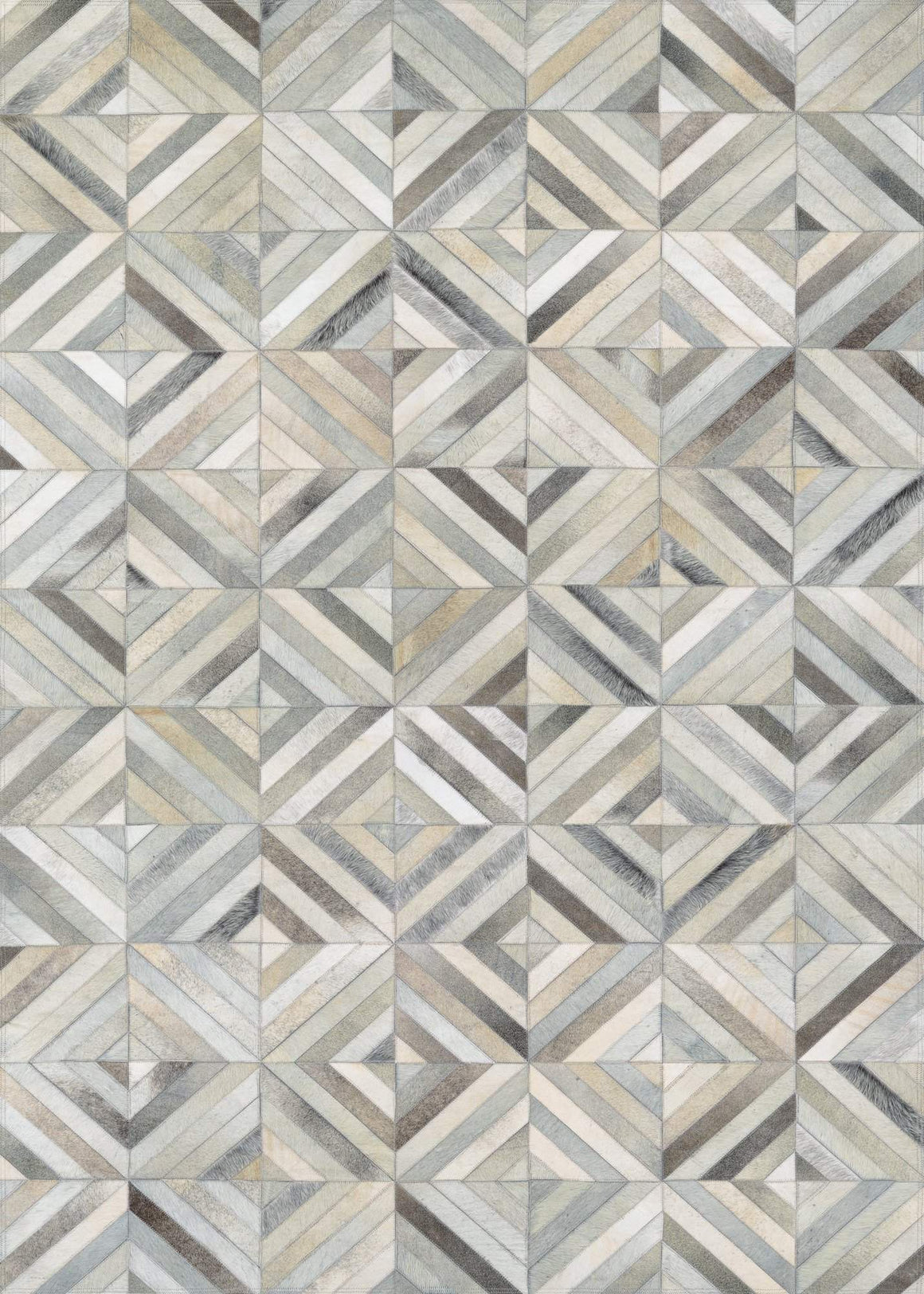 Couristan Chalet Blocks Cowhide Leather Area Rugs